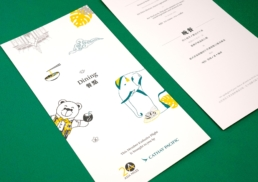 Asia Miles | Let's Go BANGKOK | dining menu design