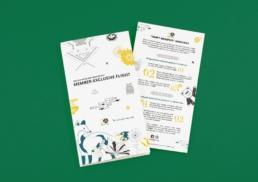 Asia Miles | Let's Go Sapporo | leaflet design & production
