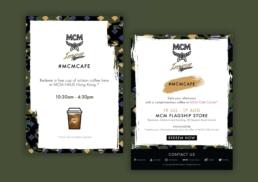 MCM   MCM Cafe Corner   marketing campaign's eDM design