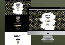 MCM   MCM Cafe Corner   marketing campaign's web design