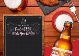 San Miguel | Food And Beer Make Your Day! | print design